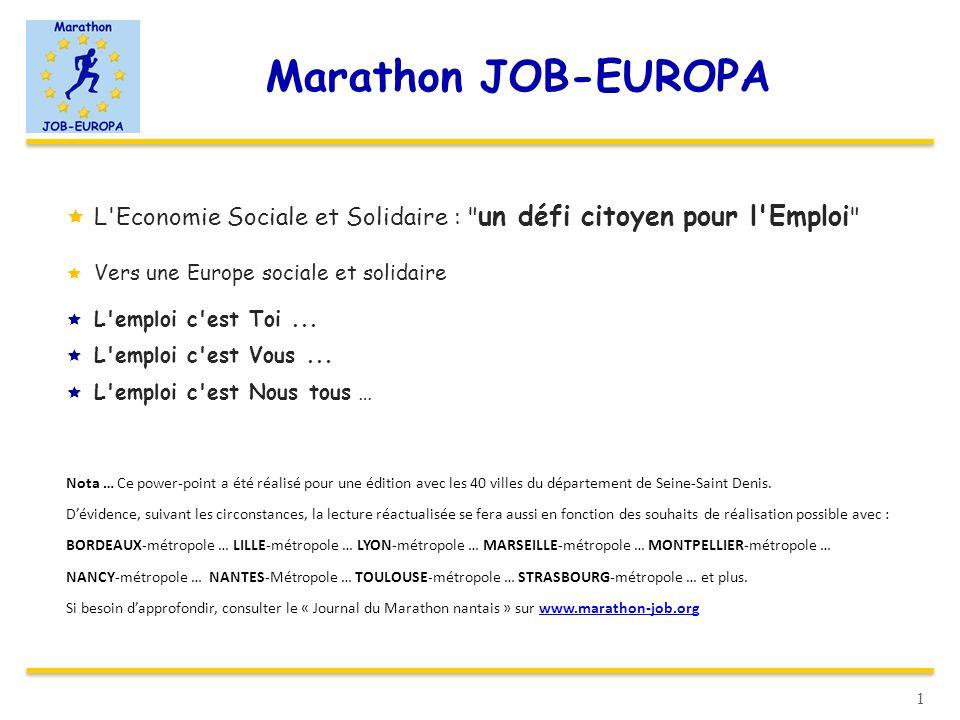 Marathon JOB-EUROPA L'Economie Sociale et Solidaire :