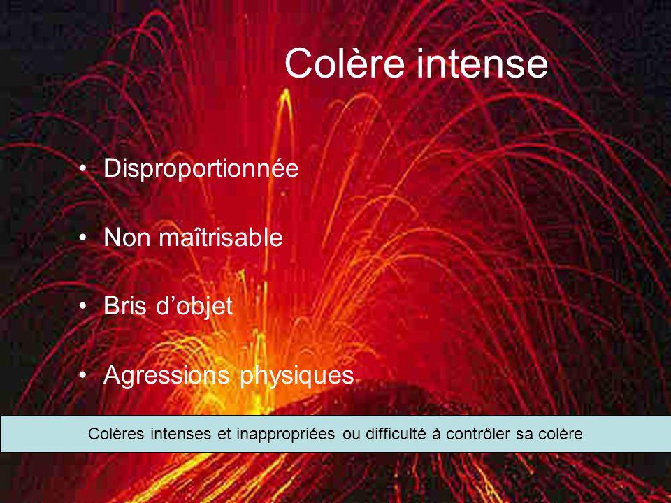 Mars 2012Trouble de personnalité borderline14 Colère intense Disproportionnée Non maîtrisable Bris dobjet Agressions physiques Colères intenses et ina