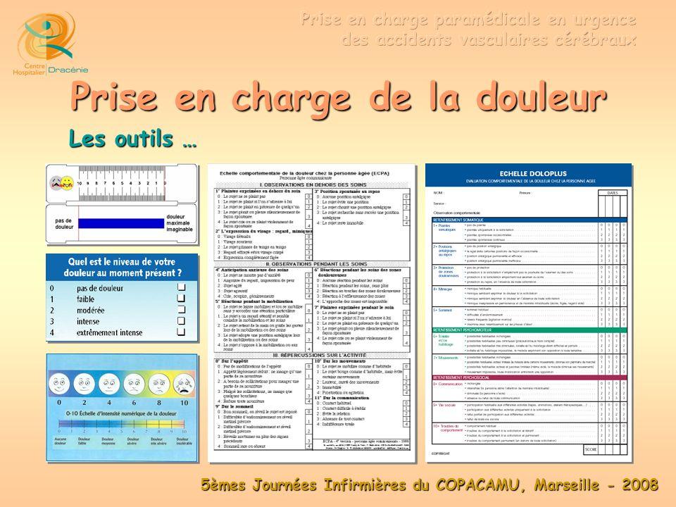 5èmes Journées Infirmières du COPACAMU, Marseille - 2008 Surveillance Diurèse LVAS SpO 2 Conscience PNI Dextro T° PNI TA < 185 / 110 Scope LVAS aspiration Prévention complications décubitus Rassurer +++