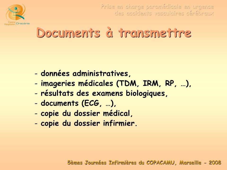 5èmes Journées Infirmières du COPACAMU, Marseille - 2008 … TIIH … Transport : Transport : ambulance simple Ù ambulance simple, équipe SMUR Ù équipe SMUR, IDE Ù IDE.