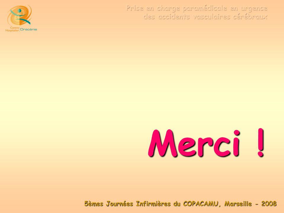 5èmes Journées Infirmières du COPACAMU, Marseille - 2008 Merci !