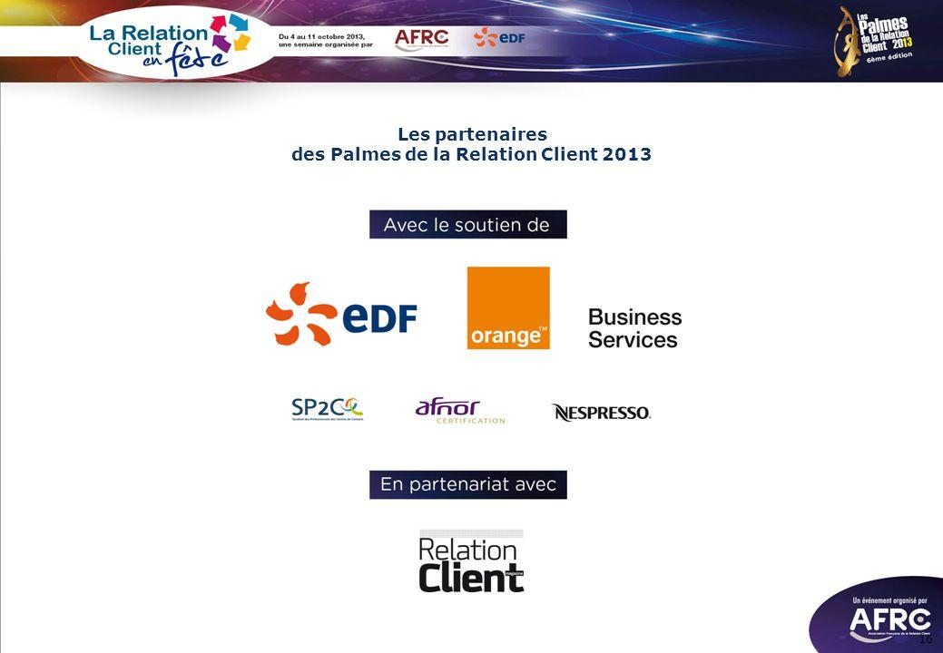 Les partenaires des Palmes de la Relation Client 2013 16