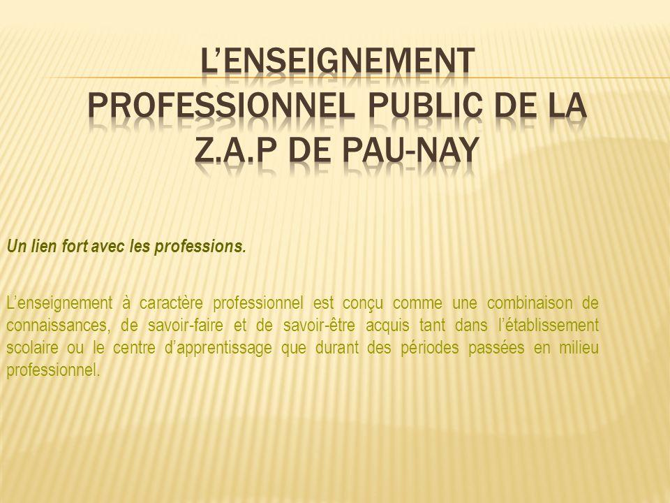 Un lien fort avec les professions. Lenseignement à caractère professionnel est conçu comme une combinaison de connaissances, de savoir-faire et de sav
