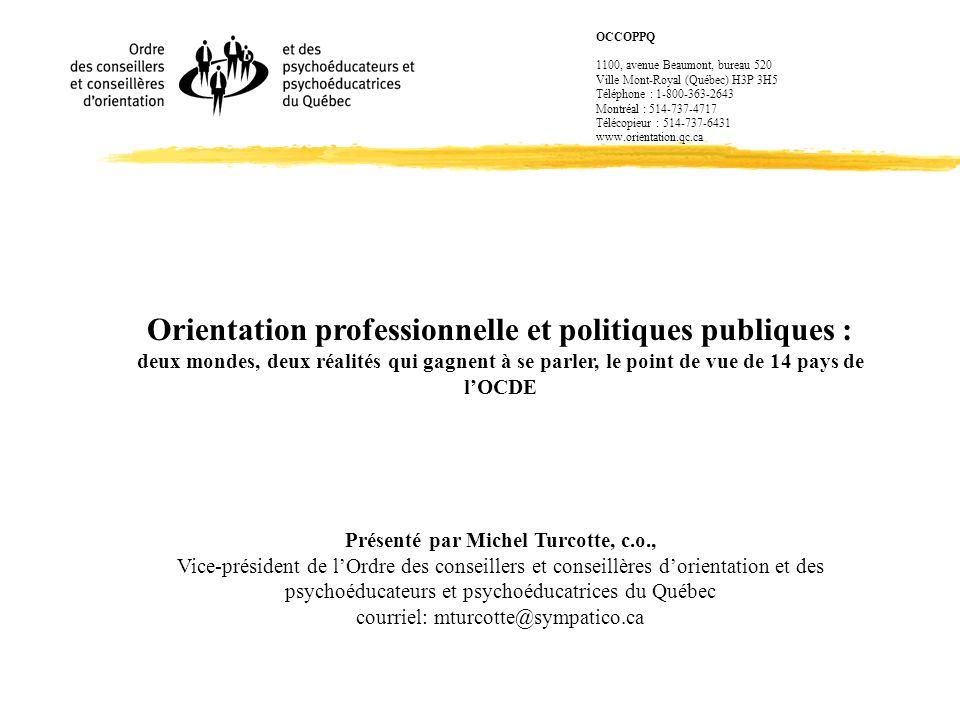 Organisation - Pays-Bas zRéglementation à déréglementation; centralisation à décentralisation; politique de non-ingérence; perte de contrôle et dévaluation de la qualité zLECOP est une responsabilité de chaque école.