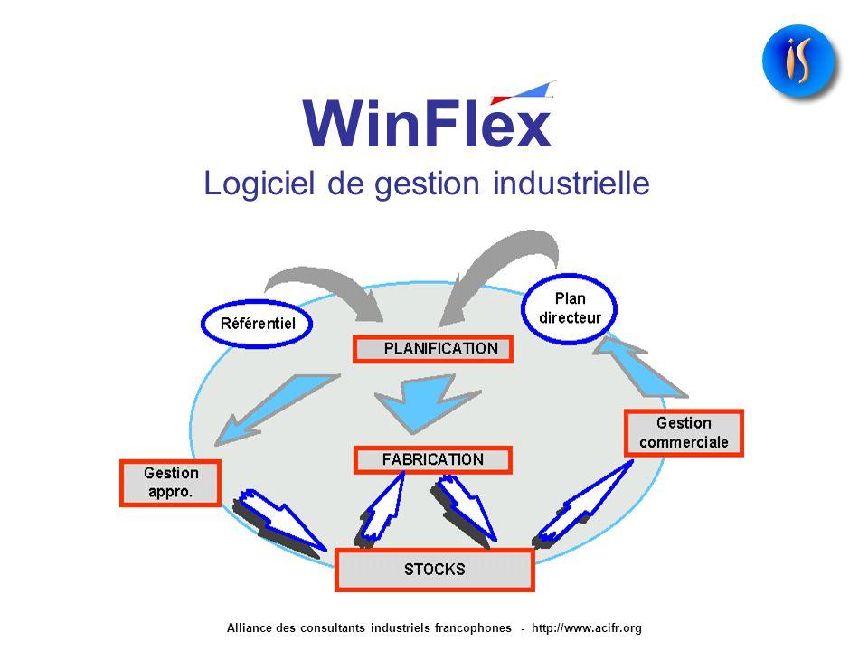 WinFlex Logiciel de gestion industrielle Alliance des consultants industriels francophones - http://www.acifr.org