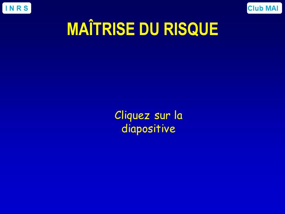 Club MAII N R S MAÎTRISE DU RISQUE Cliquez sur la diapositive