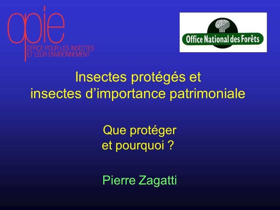 Insectes protégés et insectes dimportance patrimoniale Que protéger et pourquoi ? Pierre Zagatti