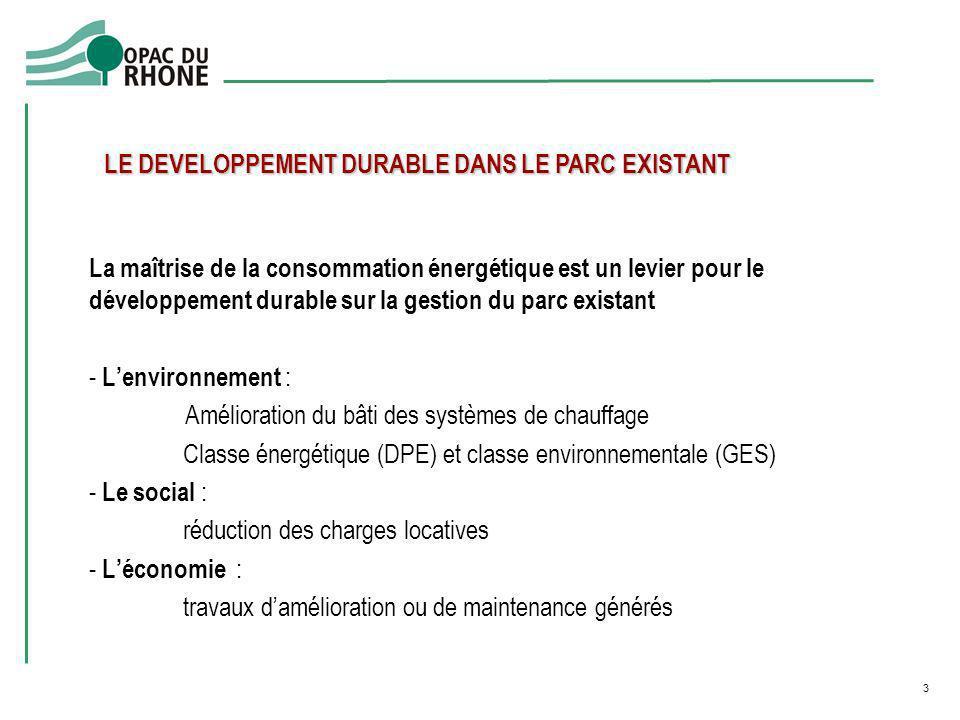 La maîtrise de la consommation énergétique est un levier pour le développement durable sur la gestion du parc existant - Lenvironnement : Amélioration