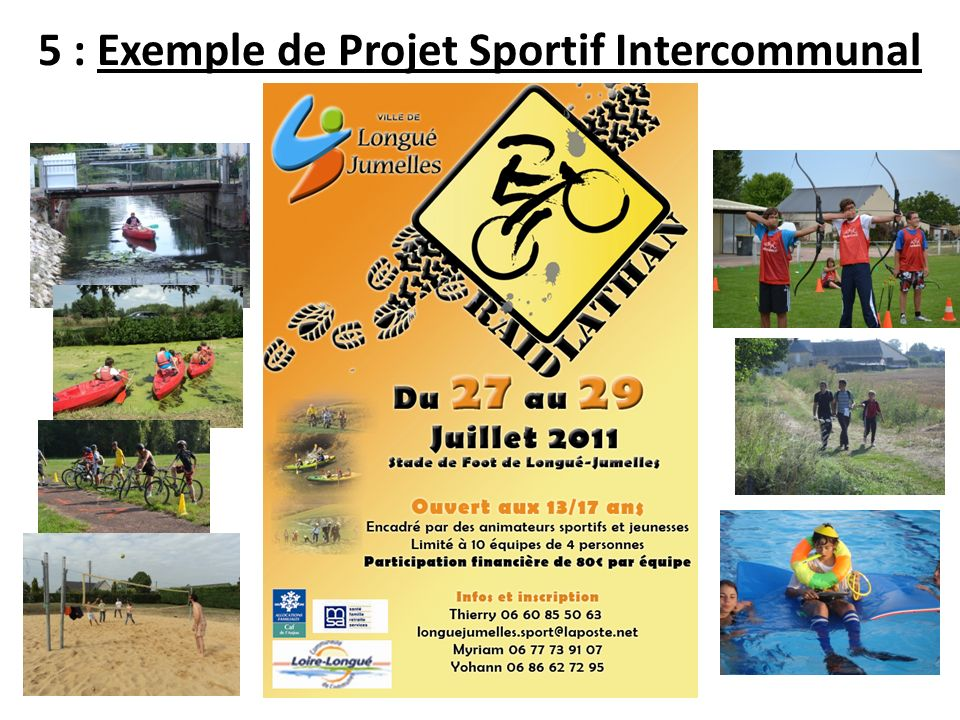 5 : Exemple de Projet Sportif Intercommunal