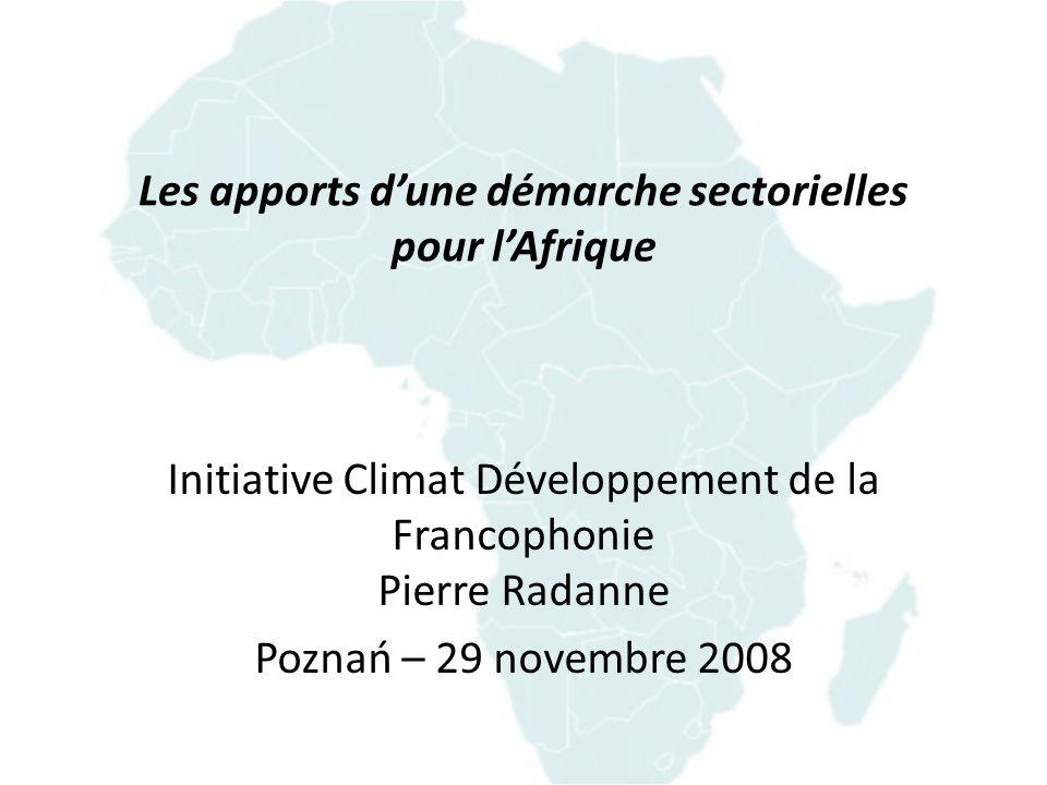 LAfrique face au changement climatique LAfrique, une des principales victimes du changement climatique –Elle a donc tout intérêt à agir sans tarder.
