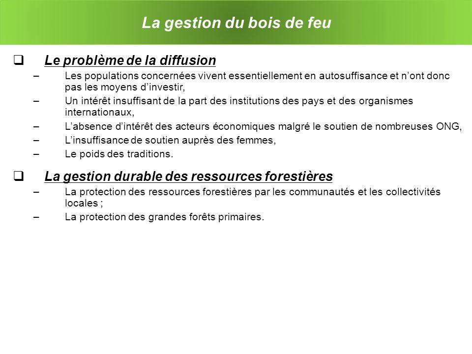 Lefficacité énergétique relative des systèmes de bois de feu
