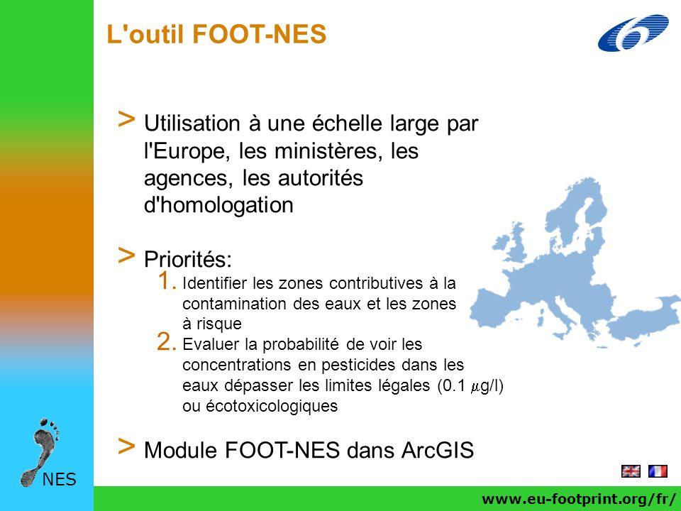 L'outil FOOT-NES NES > Utilisation à une échelle large par l'Europe, les ministères, les agences, les autorités d'homologation > Priorités: 1. Identif