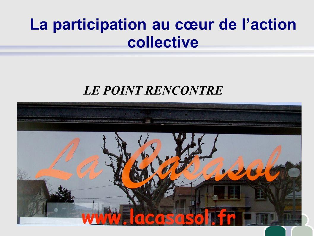 La participation au cœur de laction collective LE POINT RENCONTRE