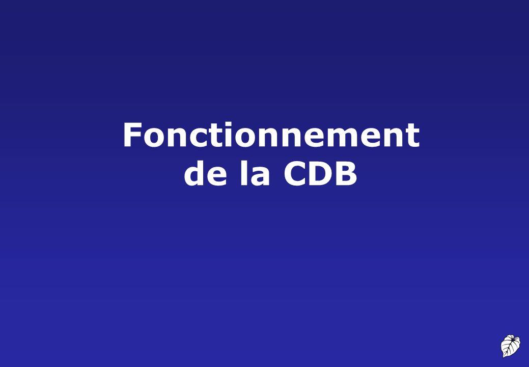 Fonctionnement de la CDB