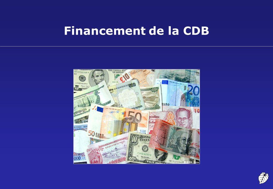Financement de la CDB