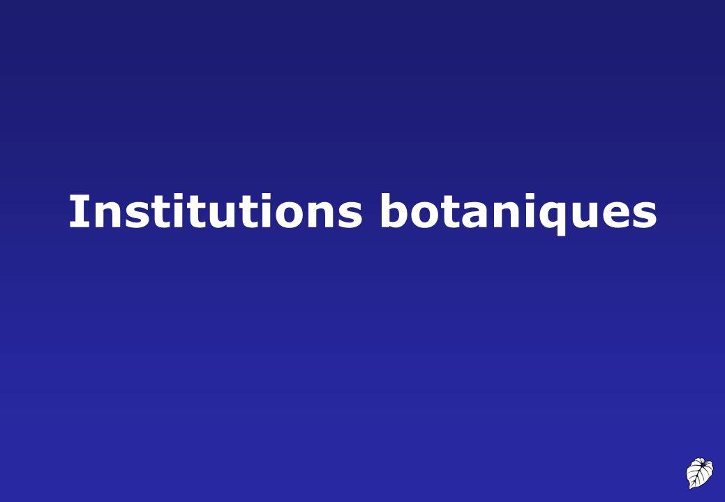 Institutions botaniques