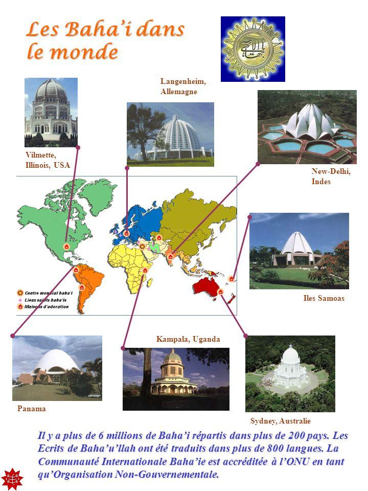 Assemblée Nationale Bahaie Association Cultuelle Bahaie de France 45, rue Pergolèse, F-75 116 Paris, France Coordonnées Tous les hommes ont été créés pour contribuer à l amélioration constante de la civilisation Baha u llah http://www.religare.org/ Site Inter Religieux http://bahai-fr.org/ Site Baha i France http://bahai.org/ Site Baha i International http://www.frequence19.com Radio Web Baha i France +33 1 45 00 90 26 Bahaullah Tombeau de Bahaullah, Bahji, Saint-Jean-dAcre, Israël