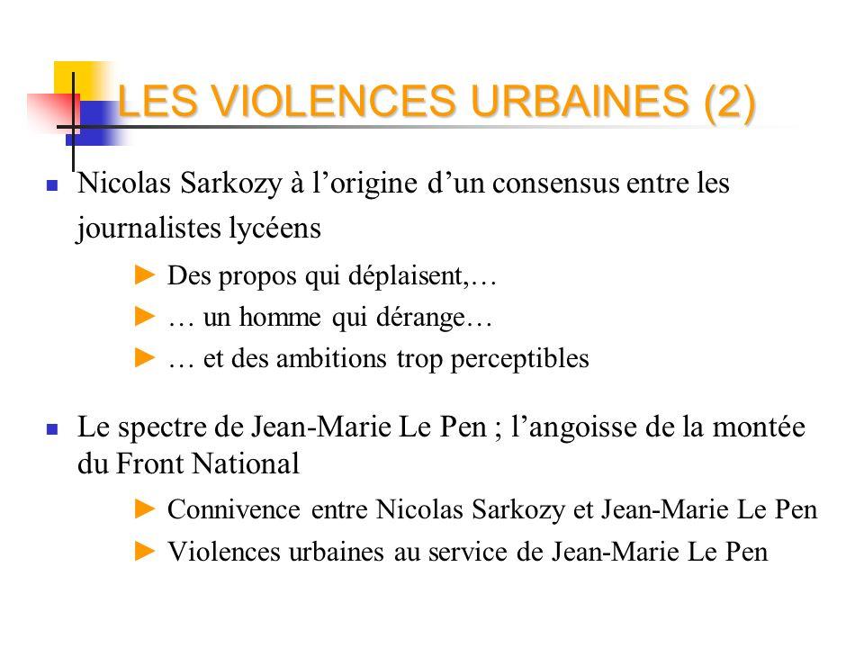 Nicolas Sarkozy à lorigine dun consensus entre les journalistes lycéens Des propos qui déplaisent,… … un homme qui dérange… … et des ambitions trop pe