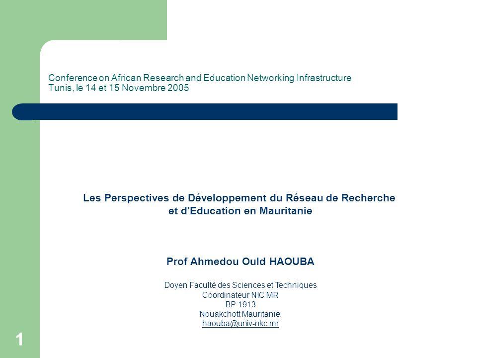 12 Perspectives (2) Actions à moyen terme La construction d un Centre de Formation à Distance équipé de matériel permettant l amélioration de la qualité des formations et l élargissement des capacités d accueil de l enseignement supérieur.