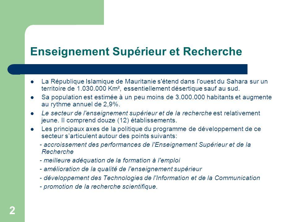 3 Connectivité Internet en Mauritanie (1) La Mauritanie est actuellement connectée à Internet via trois liaisons satellitaires: - Une liaison sur la France de 1.5 Mbs - Une liaison sur le Maroc de 4 Mbs - Une liaison sur l Allemagne de 6 Mbs Ces liaisons ne sont pas interconnectées entre elles faute d absence de technique de routage dynamique.
