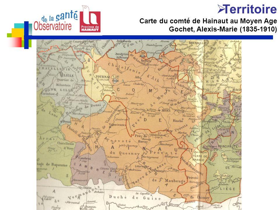 Michel Demarteau ORSIF 23/11/09 Territoire Carte du comté de Hainaut au Moyen Age Gochet, Alexis-Marie (1835-1910)