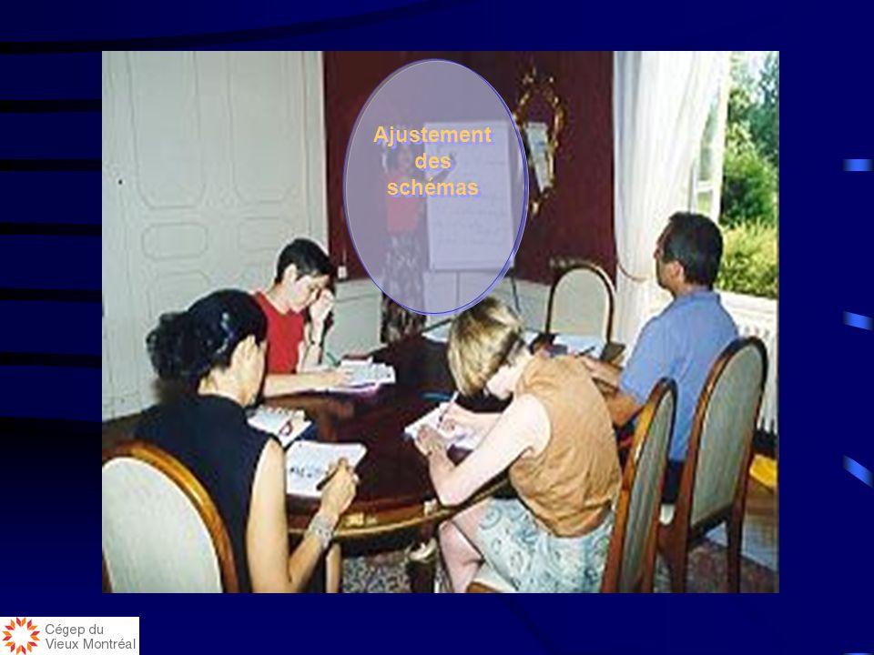 Validation des connaissances: phase 3, 1h30 Mise en commun des recherches personnelles Modification des schémas