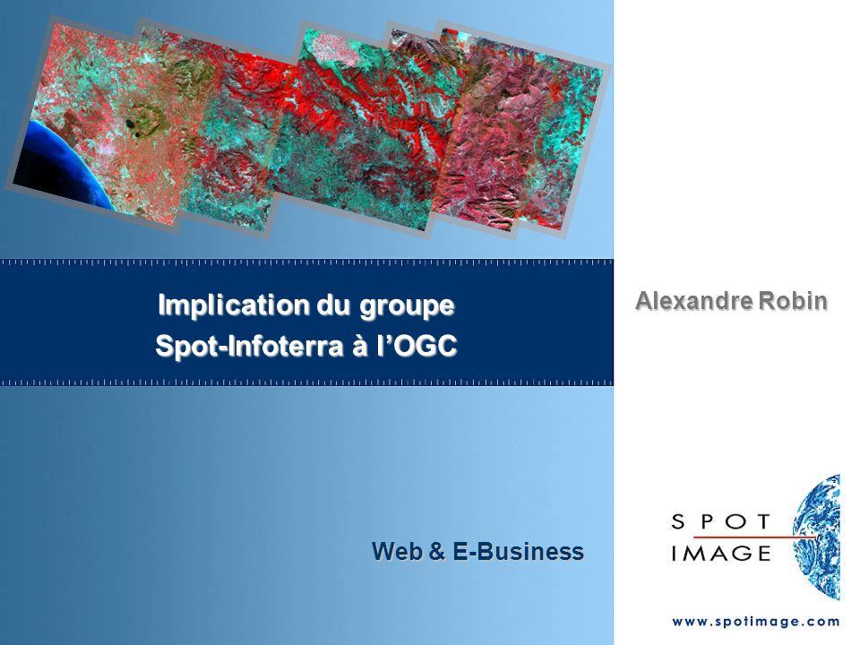 Alexandre Robin Web & E-Business Implication du groupe Spot-Infoterra à lOGC