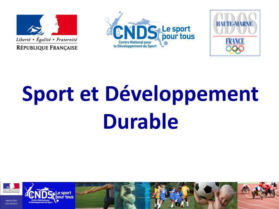 Sport et Développement Durable