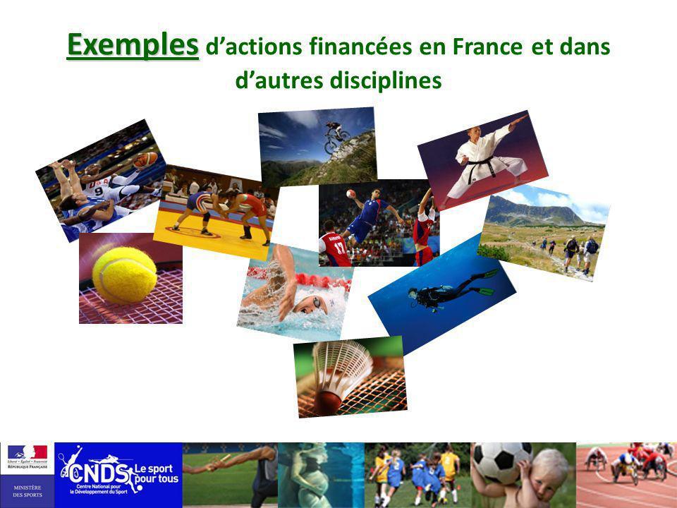Exemples Exemples dactions financées en France et dans dautres disciplines