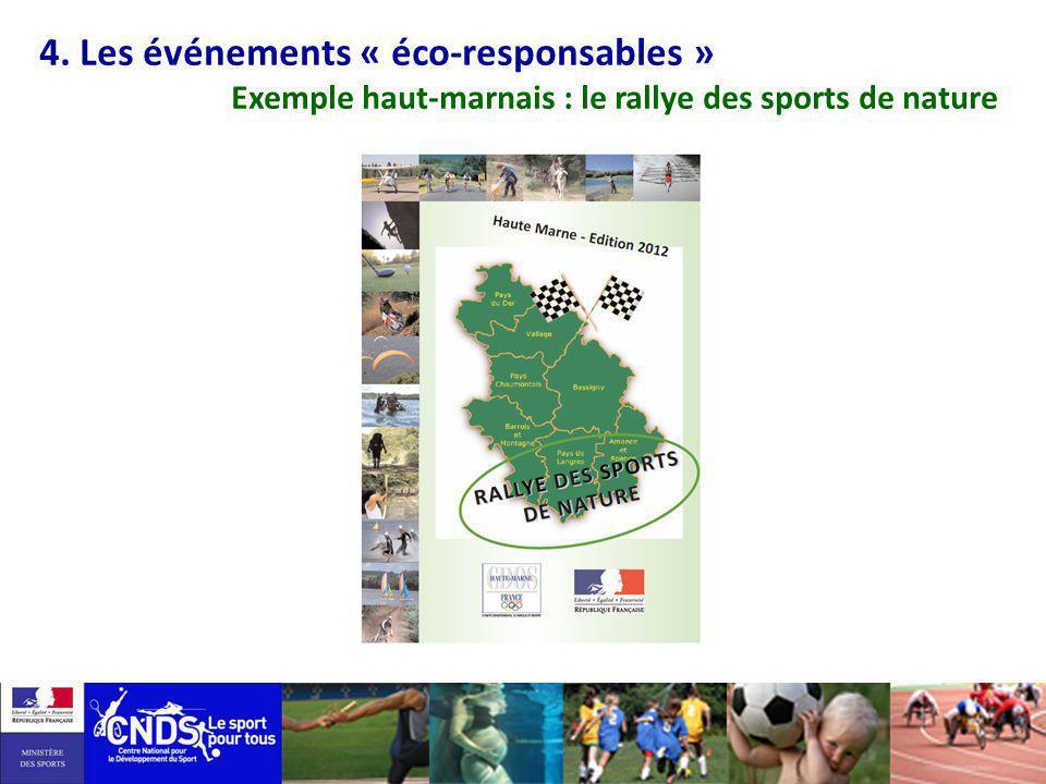4. Les événements « éco-responsables » Exemple haut-marnais : le rallye des sports de nature