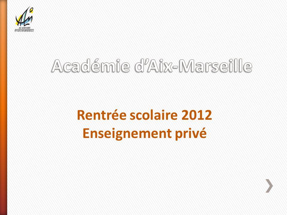 Rentrée scolaire 2012 Enseignement privé