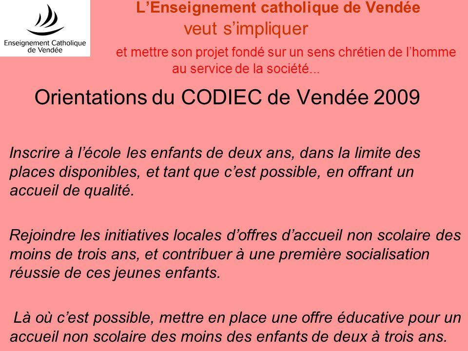 LEnseignement catholique de Vendée veut simpliquer et mettre son projet fondé sur un sens chrétien de lhomme au service de la société... Orientations