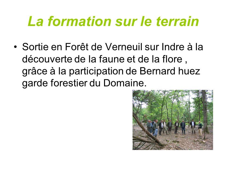La formation sur le terrain Sortie en Forêt de Verneuil sur Indre à la découverte de la faune et de la flore, grâce à la participation de Bernard huez