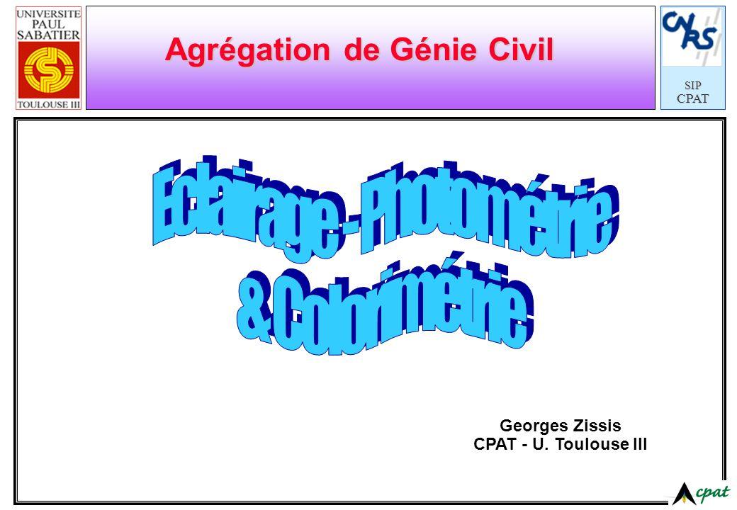 SIPCPAT Agrégation de Génie Civil Georges Zissis CPAT - U. Toulouse III