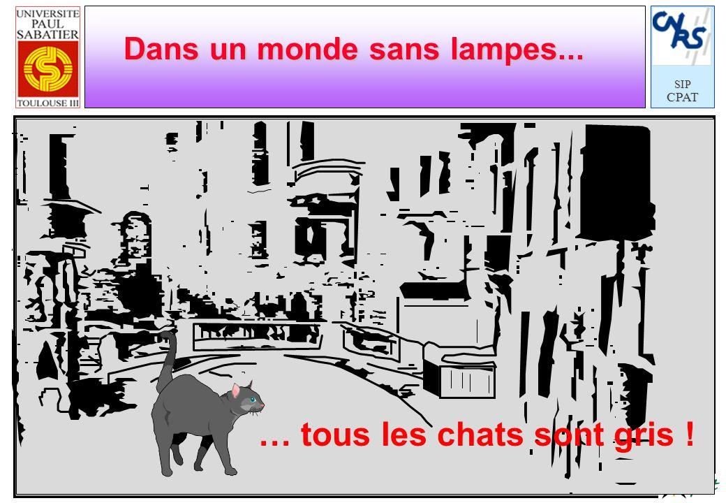SIPCPAT Dans un monde sans lampes... … tous les chats sont gris !