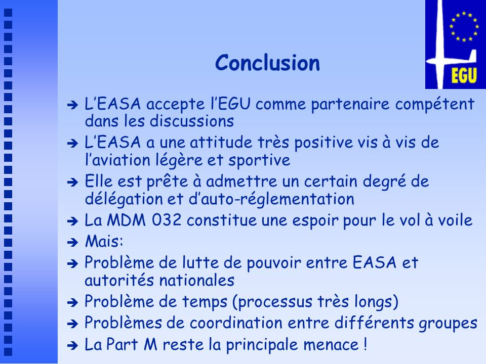 Pour plus dinfos è Série darticles dans Planeur Info è www.egu-info.org