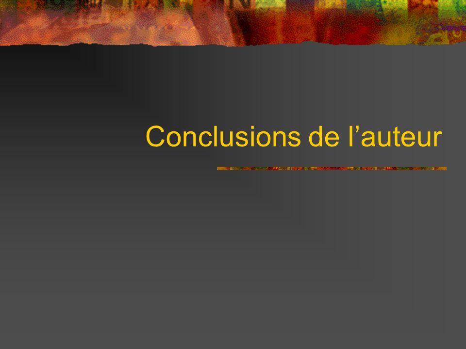 Conclusions de lauteur