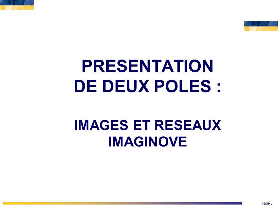 page 5 PRESENTATION DE DEUX POLES : IMAGES ET RESEAUX IMAGINOVE