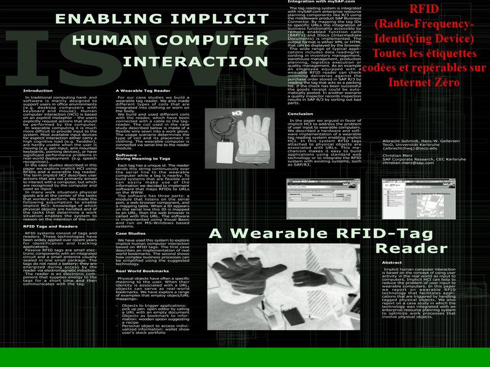 RFID (Radio-Frequency- Identifying Device) Toutes les étiquettes codées et repérables sur Internet Zéro