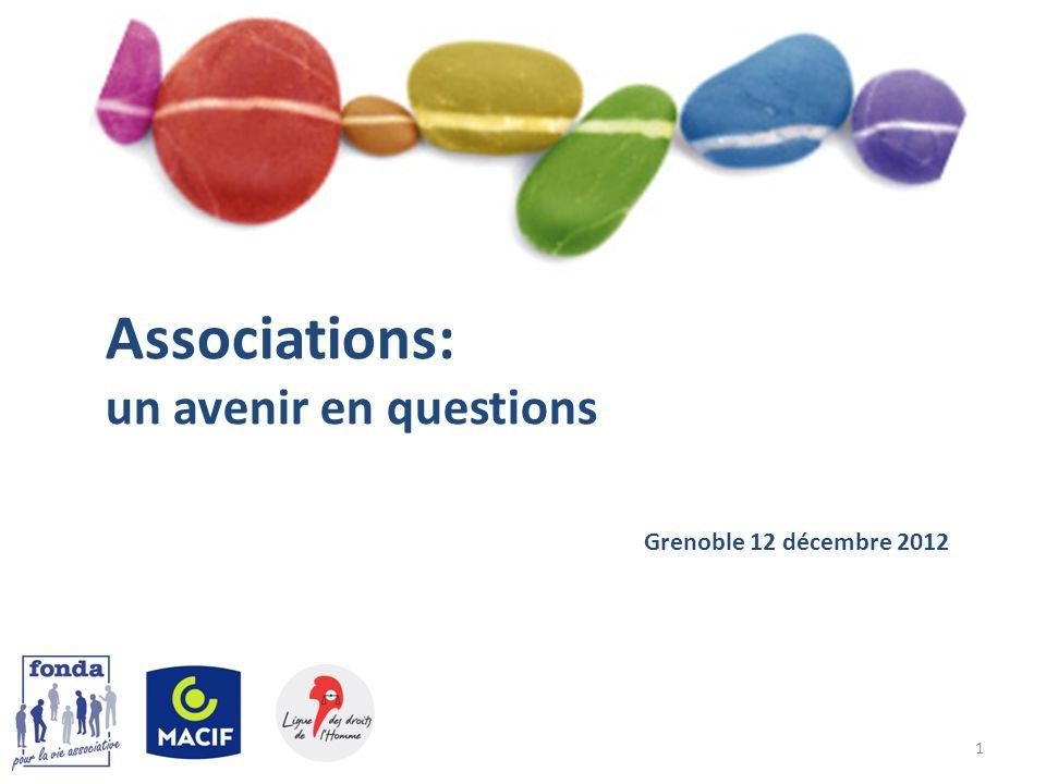 1 Associations: un avenir en questions Grenoble 12 décembre 2012