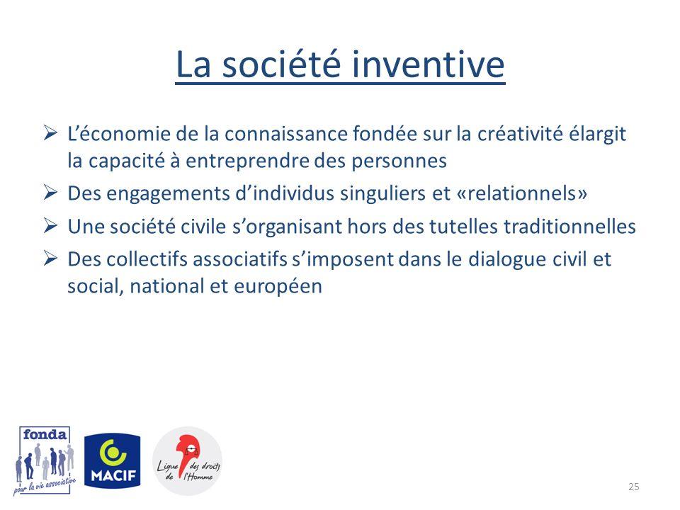 La société inventive Léconomie de la connaissance fondée sur la créativité élargit la capacité à entreprendre des personnes Des engagements dindividus