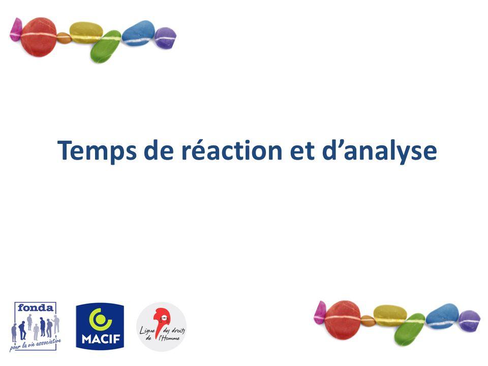 5 Temps de réaction et danalyse
