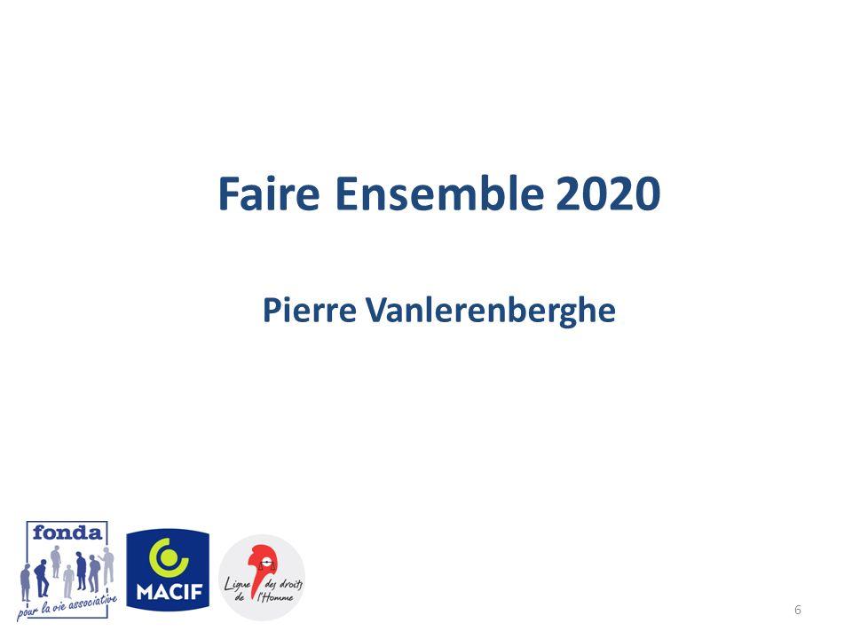 6 Faire Ensemble 2020 Pierre Vanlerenberghe