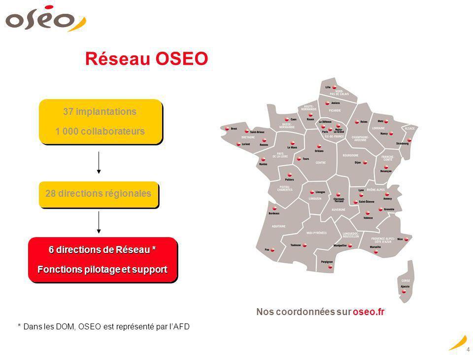 4 28 directions régionales 6 directions de Réseau * Fonctions pilotage et support 6 directions de Réseau * Fonctions pilotage et support * Dans les DO