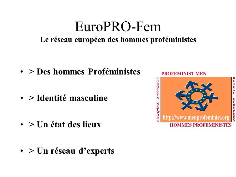 EuroPRO-Fem Le genre masculin est construit de manière paradoxale Lidentité masculine