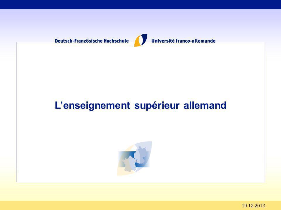 19.12.2013 Lenseignement supérieur allemand