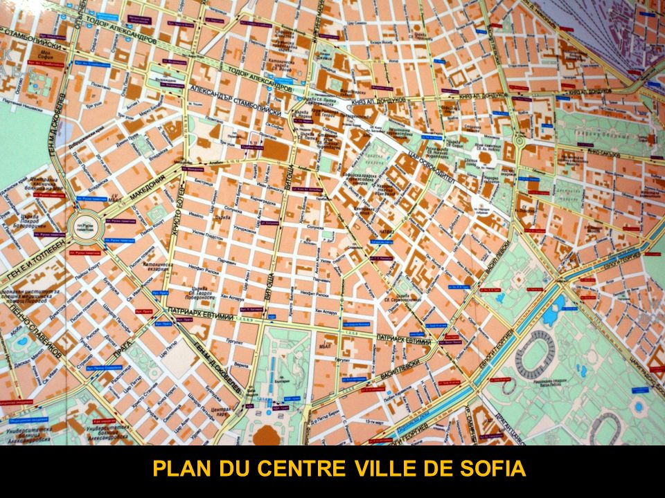 PLAN DU CENTRE VILLE DE SOFIA