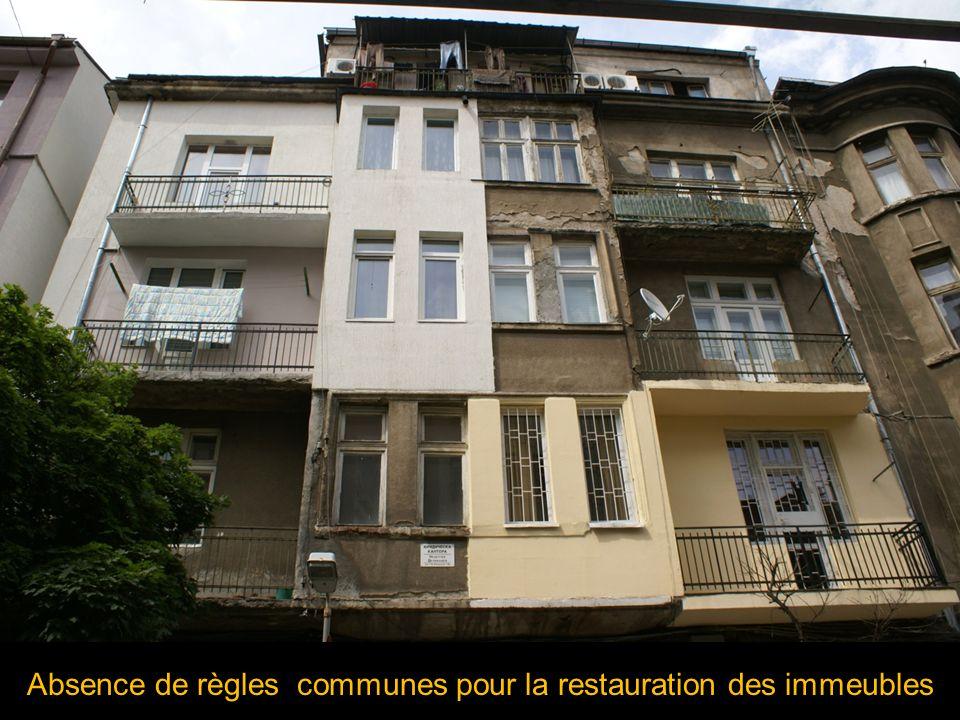 Absence de règles communes pour la restauration des immeubles