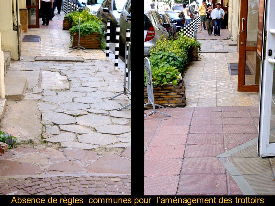 Absence de règles communes pour laménagement des trottoirs
