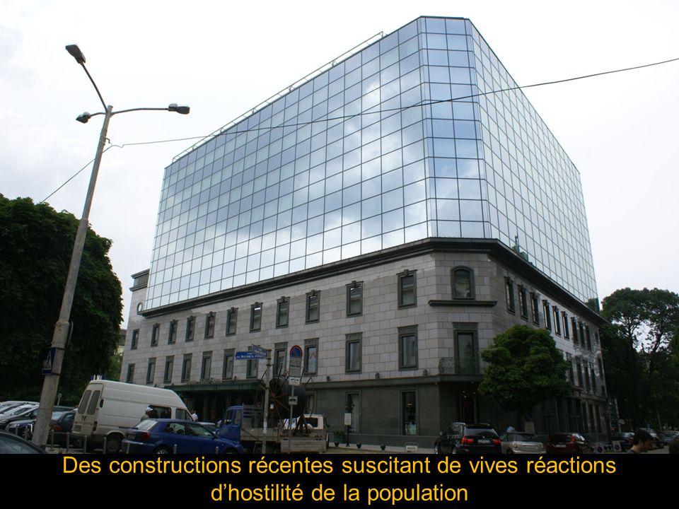 Des constructions récentes suscitant de vives réactions dhostilité de la population